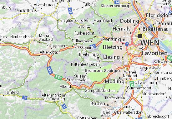 Karte Stadtplan Breitenfurt bei Wien