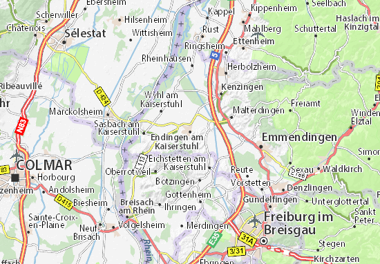 Carte-Plan Endingen am Kaiserstuhl