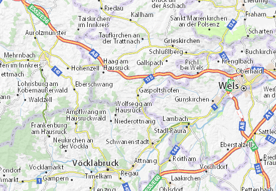Karte Stadtplan Gaspoltshofen