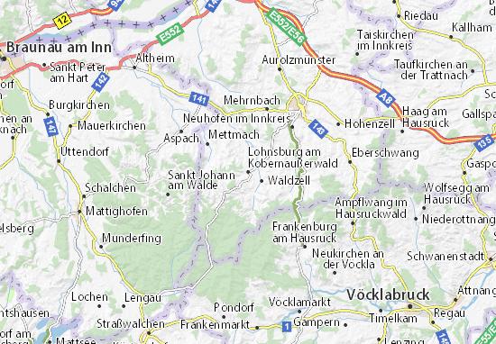 Mapa Plano Lohnsburg am Kobernaußerwald