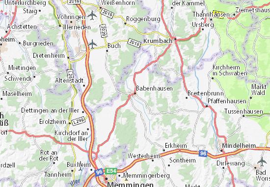 Babenhausen Map