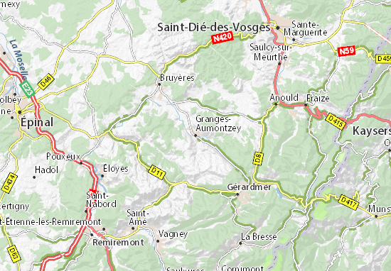 Carte-Plan Granges-Aumontzey