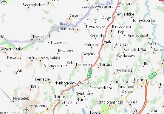 Gégény Map