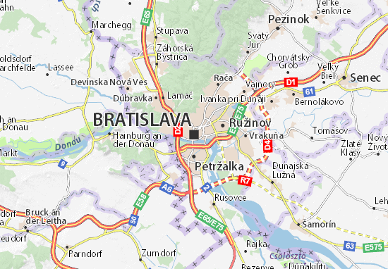 bratislava mapa Mapa Bratislava   plano Bratislava   ViaMichelin bratislava mapa