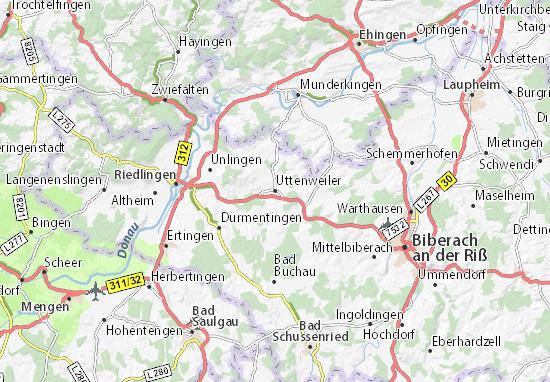 Uttenweiler Map