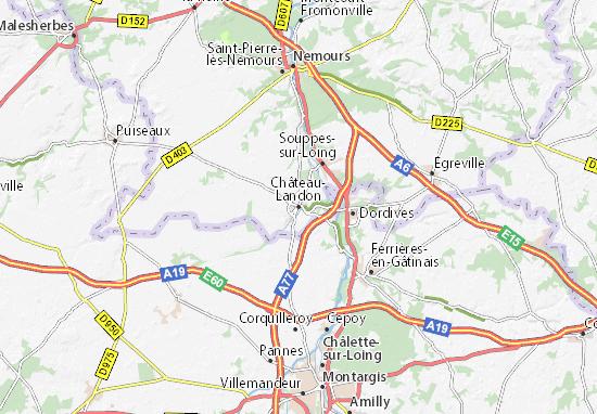 Mapa Plano Château-Landon