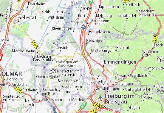 Carte-Plan Riegel am Kaiserstuhl