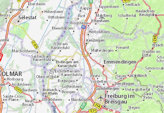 Kaart Plattegrond Riegel am Kaiserstuhl