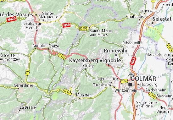 Carte Alsace Lapoutroie.Carte Detaillee Lapoutroie Plan Lapoutroie Viamichelin