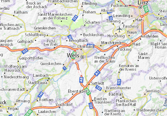 Mapas-Planos Thalheim bei Wels