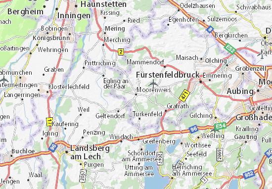 Karte Stadtplan Moorenweis