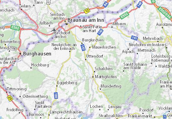 Mapa Plano Uttendorf
