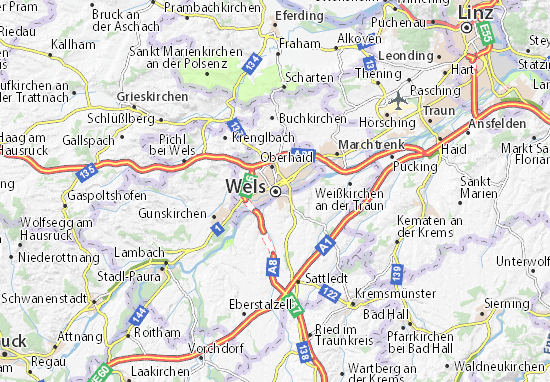 Carte-Plan Wels