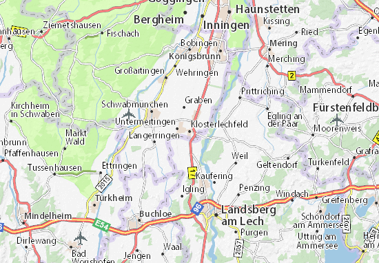 Karte Stadtplan Klosterlechfeld