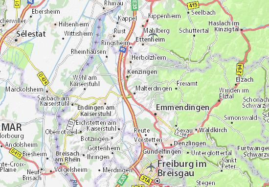 Karte Stadtplan Malterdingen