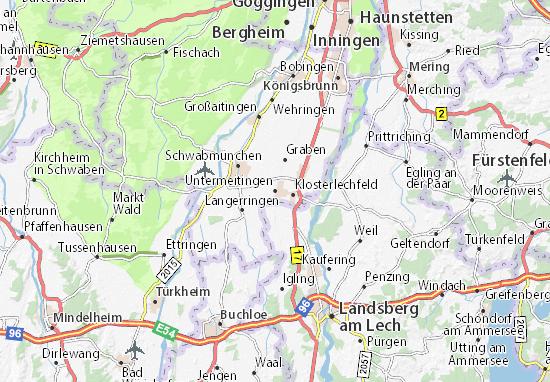 Karte Stadtplan Untermeitingen
