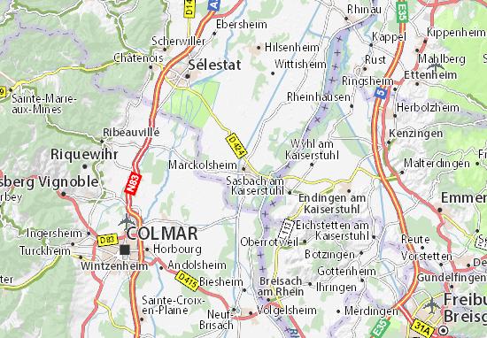 Kaart Plattegrond Marckolsheim