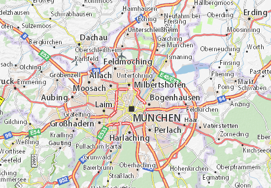 Map of Schwabing Michelin Schwabing map ViaMichelin – Munich Tourist Attractions Map