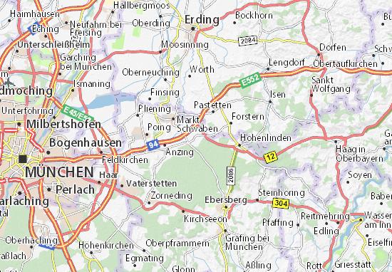 Karte Stadtplan Forstinning