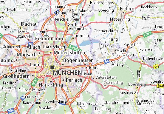 Karte Stadtplan Aschheim