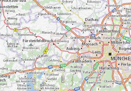 Karte Stadtplan Eichenau