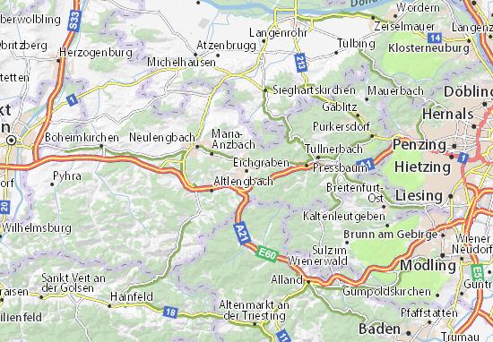 Karte Stadtplan Eichgraben