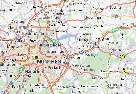 Karte Stadtplan Kirchheim bei München