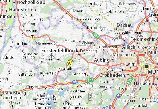 Carte-Plan Fürstenfeldbruck