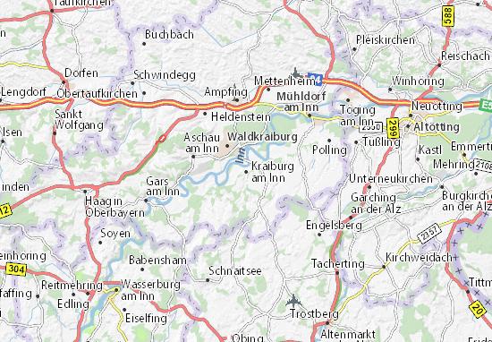 Carte-Plan Kraiburg am Inn