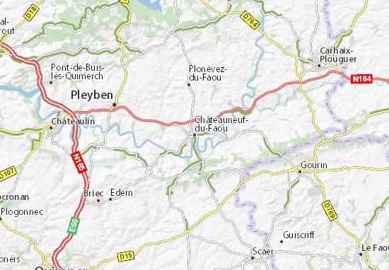 Mapa Plano Châteauneuf-du-Faou