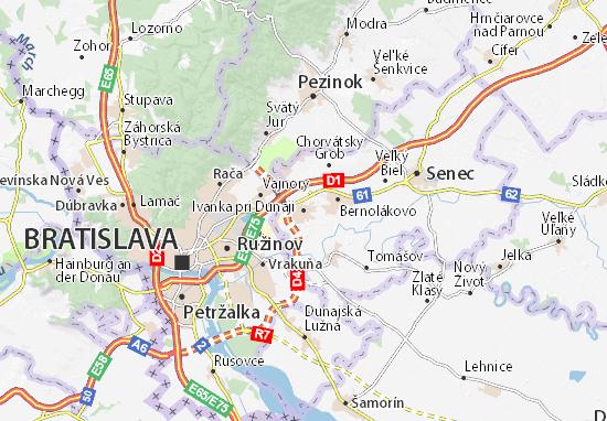 Mapas-Planos Ivanka pri Dunaji