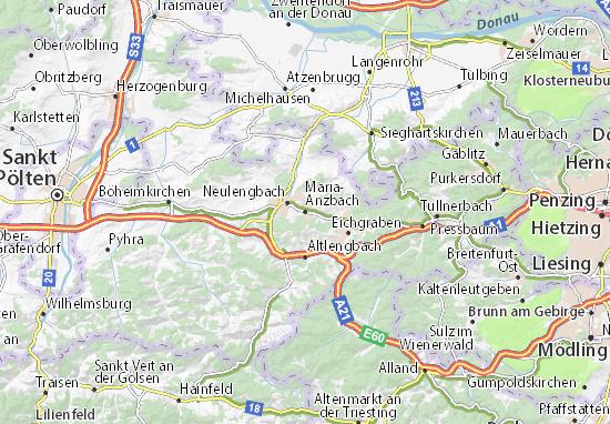 Mapa Plano Maria-Anzbach