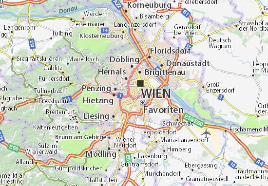 Karte Stadtplan Margareten
