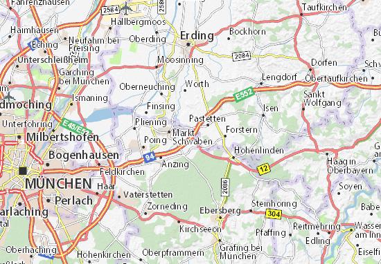 Map of Erlbach - Michelin Erlbach map - ViaMichelin