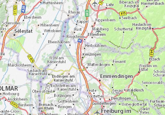 Karte Stadtplan Kenzingen