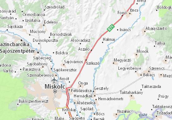 Szikszó Map