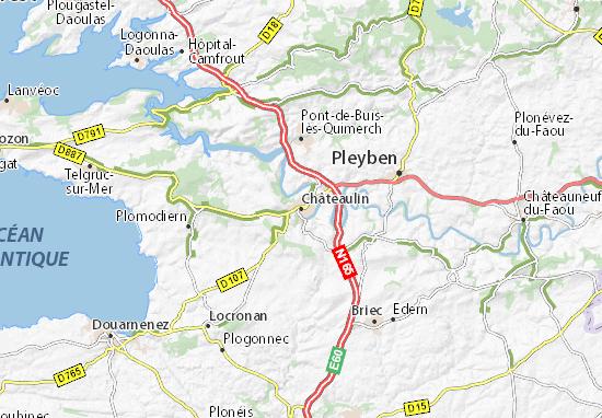 Châteaulin Map