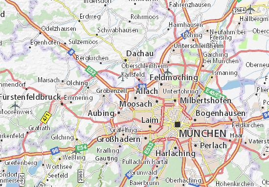 Carte-Plan Allach