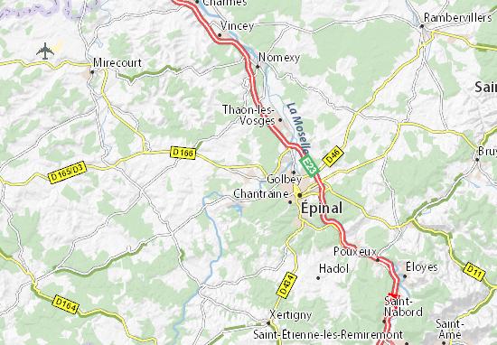 Kaart Plattegrond Uxegney