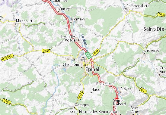 Karte Stadtplan Golbey