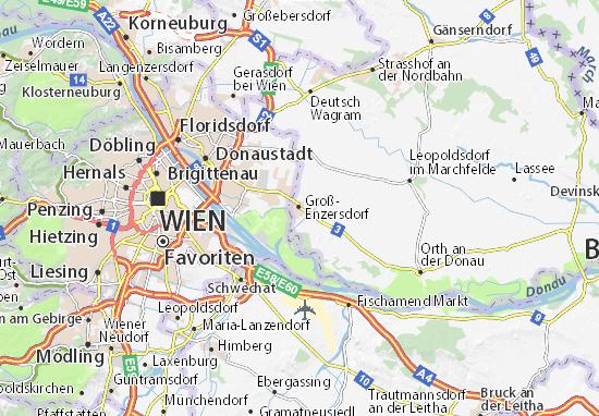 Karte Stadtplan Groß-Enzersdorf
