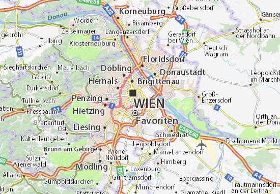 Karte Stadtplan Landstrasse