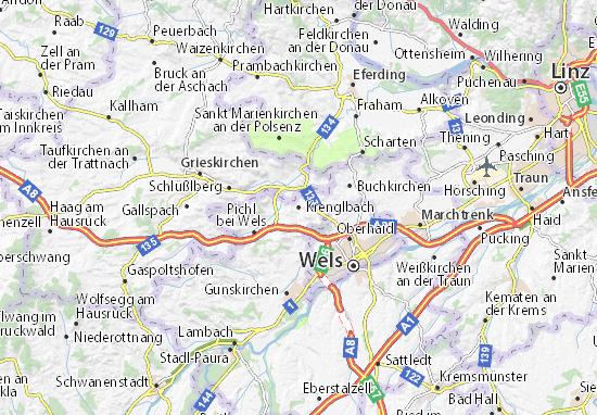 Karte Stadtplan Krenglbach
