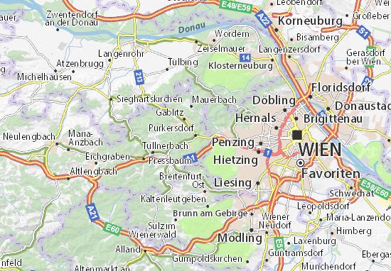 Karte Stadtplan Purkersdorf
