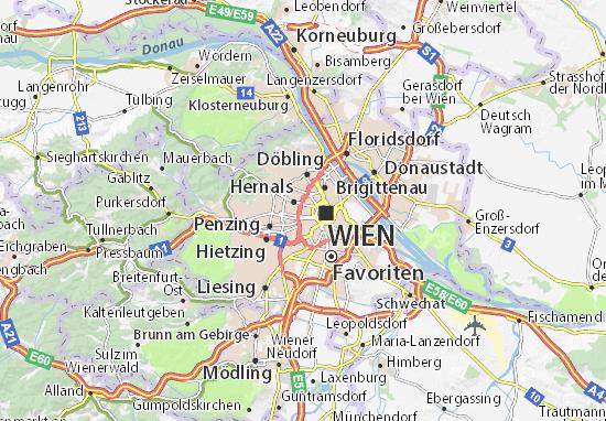 Karte Stadtplan Josefstadt