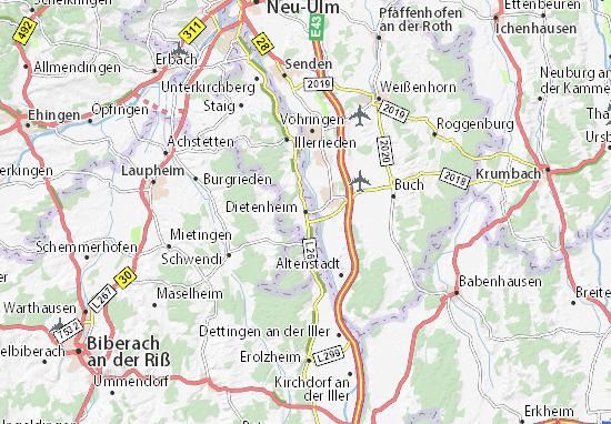 Dietenheim Map