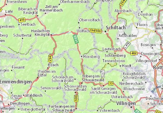Karte Stadtplan Hornberg