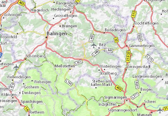 Karte Stadtplan Ebingen