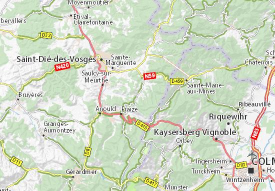Map Of Kaysersberg France.Detailed Map Of La Croix Aux Mines La Croix Aux Mines Map