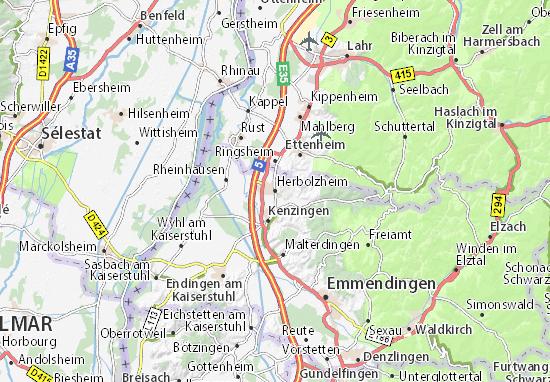 Karte Stadtplan Herbolzheim